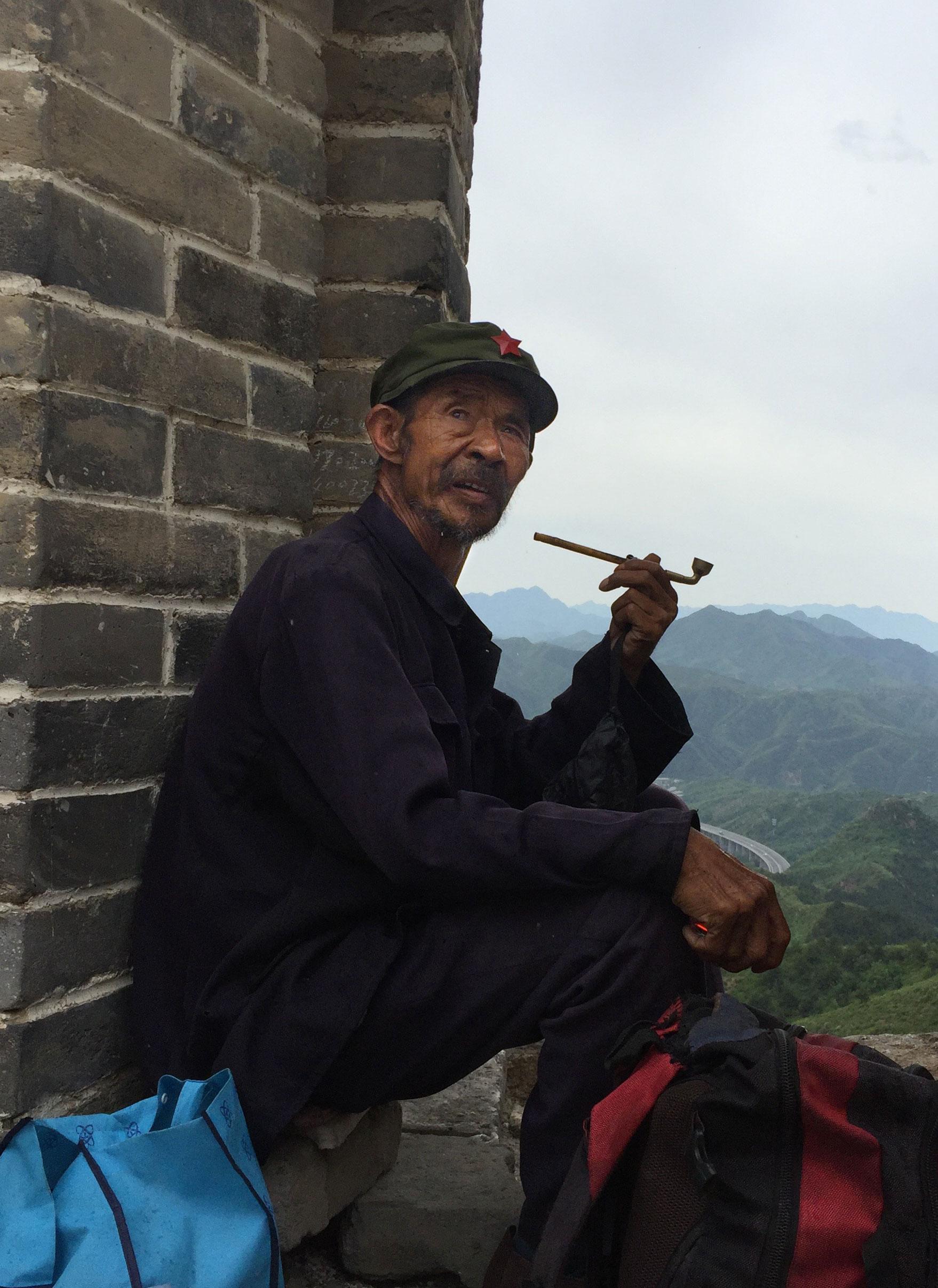 Rencontre lors d'un trek sur la muraille – Chine