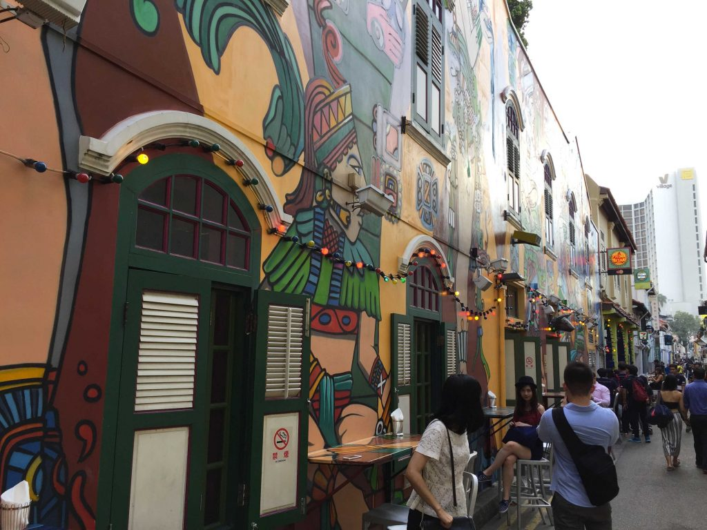 Kampong Glam street art singapour
